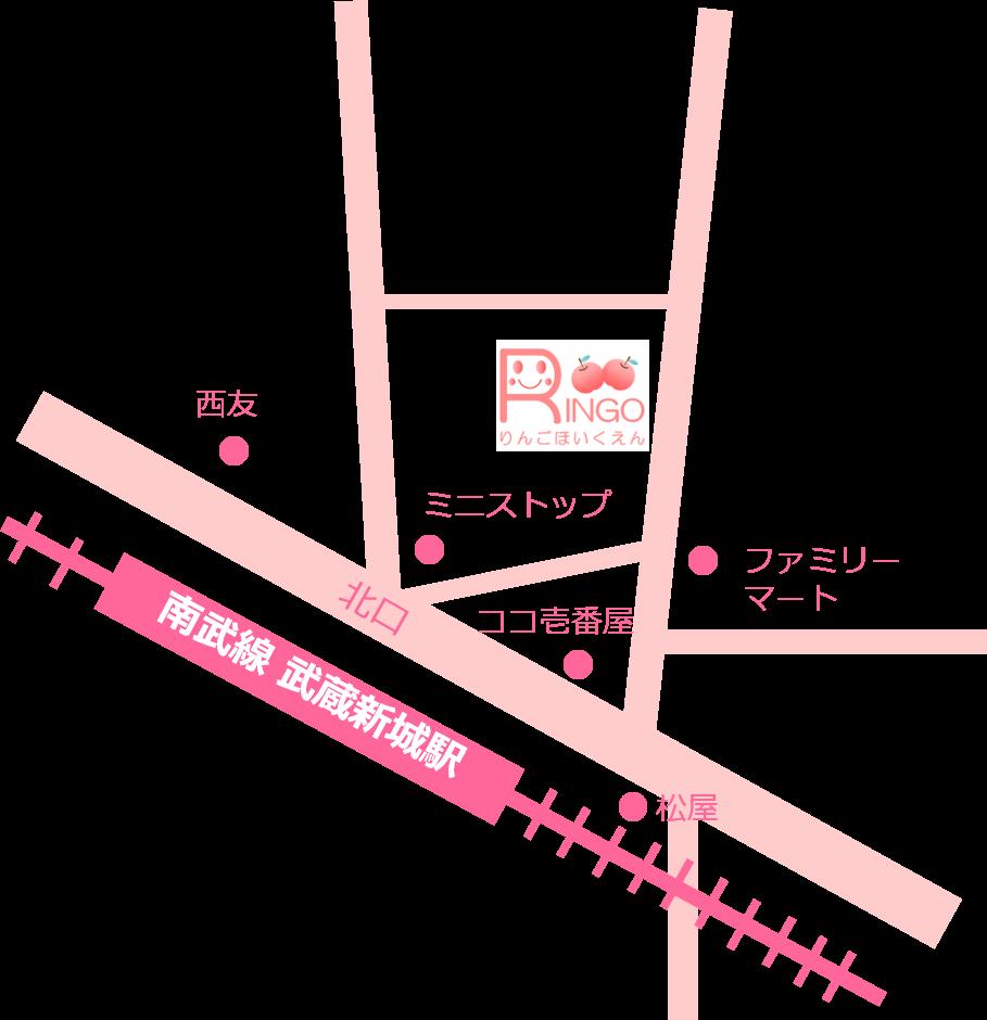 りんご保育園アクセスマップ